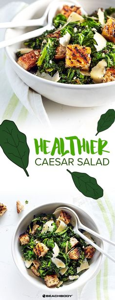 Love Caesar salad, but not the calories? Try this version instead! Caesar salad // cheat clean // healthy recipes // eat healthy // meal prep // 21 day fix // croutons // parmesan cheese // vegetarian (Cheese Snacks Clean Eating) Clean Eating Vegetarian, Clean Eating Diet, Healthy Eating Habits, Healthy Meal Prep, Vegetarian Recipes, Healthy Recipes, Vegetarian Cheese, Healthy Living, Healthy Sweet Snacks