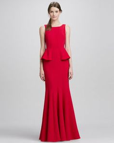38dd882f79265 BCBGMAXAZRIA Sleeveless Peplum Gown