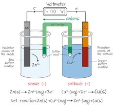 Zncudetailf chemistry pinterest chemistry a summary of the key features of the zncu voltaic cell ccuart Images