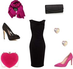 Very cute Valentines Day date night outfit idea