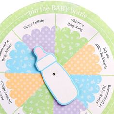 Spin the Baby Bottle Baby Shower Game