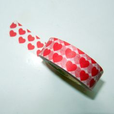 Red Hearts Washi Tape by CloudNineSupplyShop on Etsy, $3.25