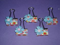 Altered Binder Clips by klb1082 - Cards and Paper Crafts at Splitcoaststampers