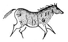 petroglyph horse pictures | rubber stamp - petroglyph horse - lascaux cave - southwest - cave ...