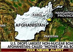 TRUMPED: US Drops Largest Non-Nuclear MOAB Bomb In Human History On ISIS in Afghanistan