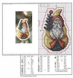 I love Santa Ornaments - Plastic Canvas Cross Stitch Christmas Ornaments, Xmas Cross Stitch, Cross Stitch Samplers, Christmas Cross, Counted Cross Stitch Patterns, Cross Stitch Charts, Cross Stitching, Cross Stitch Embroidery, Christmas Balls