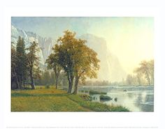 El Capitan, Yosemite Valley, California, 1875 Art Print Fine Art Poster Print by Albert Bierstadt, 14x11 ** You can find out more details at the link of the image.
