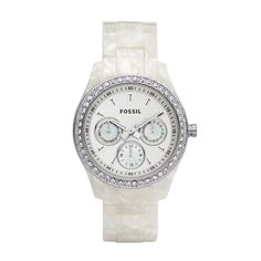 FOSSIL® Watch Styles White Watches:Women Stella Resin Watch - Pearlized White ES2790