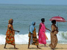 Walking on the beach in Popenguine, Senegal