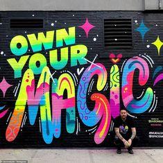 Murals Street Art, Graffiti Wall Art, Mural Wall Art, Graffiti Lettering, Street Art Graffiti, Graffiti Artists, Graffiti Art Drawings, Graffiti Painting, Typography