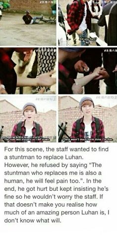 Luhan is so kind and thoughtful!!