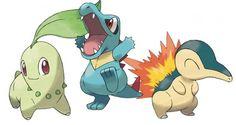 Pokemon - Generacion II - Chikorita, Totodile y Cyndaquil.