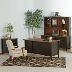 deluxe wooden home office. Horizons Deluxe Amish Office Furniture Set \u0026 Optional Hutch Deluxe Wooden Home Office