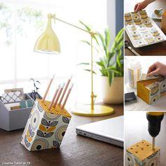Wood Pencil Holder DIY Projects | UsefulDIY.com