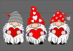 Valentine Decorations, Valentine Crafts, Valentines, Rock Crafts, Crafts To Do, Paper Crafts, Gnome Paint, Sublimation Mugs, Scandinavian Gnomes
