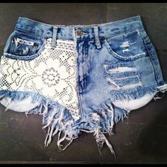 Putting lace on cutoff shorts... Where can I buy these ASAP!