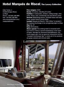 Hotel Marques de Riscal Frank Gehry   Elciego, (Alava) Spain      Frank Gehry's expansion of the Marques de Riscal Winery contains; guest ro...