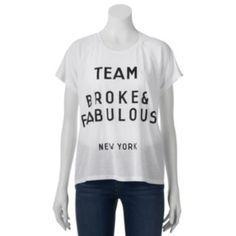 "Freeze ""Team Broke & Fabulous"" Graphic Tee - Juniors"