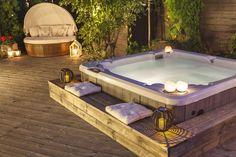 Hot Tub Garden, Hot Tub Backyard, Backyard Plan, Swimming Pools Backyard, Jacuzzi Outdoor, Outdoor Spa, Backyard Pool Designs, Backyard Patio Designs, Backyard Makeover