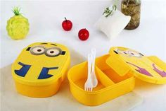 Cute Cartoon Minions Microwave Oven Bento Container Case With Plastic Portable Lunch Boxes For Students Or Kids Minions Fans, Minions Love, Minion Stuff, Minion Lunch Box, Minion Gifts, Kids Boxing, Gift Store, Bento, Container