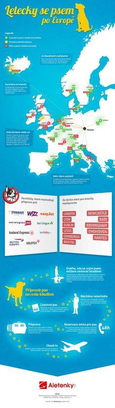 Letecky se psem po Evropě - infografika (LETECKY SE PSEM PO EVROPĚ – INFOGRAFIKA)