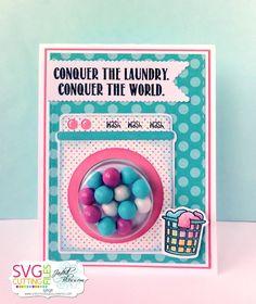 The Cricut Bug:  Conquer The Laundry-Using Chibi Laundry