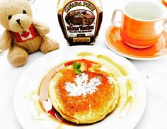 Canadian breakfast #pancakes #maplesyrup