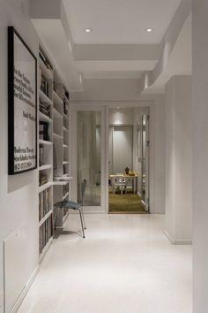 A gray loft in Stockholm