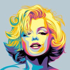 Pin by tracey kuyers traylynns on marilyn monroe & art in 2019 art, Marilyn Monroe Drawing, Marilyn Monroe Pop Art, Poster Digital, Pop Art Marilyn, Pin Up Retro, Posca Art, Pop Art Portraits, Art Inspo, Vector Art