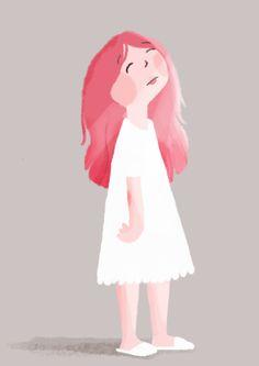 Sleepy Girl, character design by Manja Ciric