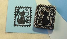 Great Cat Stamps: Cat on a Stamp, $13 #cat