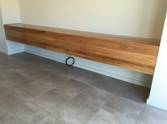 Wormy chestnut timber floating TV unit More