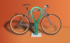 The Loop adds a touch of flexibility to the security offered by other bike racks. By combining a steel chain with heavy-duty rubber, the Loop offers secure yet playful parking for cyclists in cities. Electric Cargo Bike, Bicycle Rack, Urban Bike, Bike Storage, Steel Plate, Steel Chain, Cool Bikes, Urban Design, Colorful