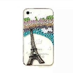 Handmade hard case for Sony Xperia S Bling Rainbow by CheersCases, $29.99