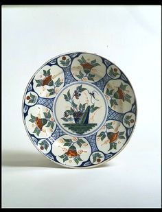 Tin-glazed earthenware, painted. Bristol  1720 – 1730