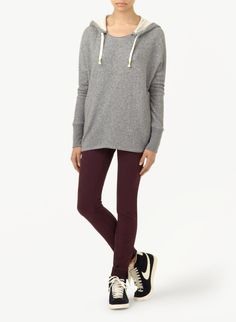 TNA TOMBOLO SWEATER - An oversized hoodie in super soft cotton terry