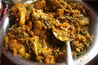 LABRA (FIVE VEGGIES) Labra is the perfect festival dish. It's five vegetables bring a variety of flavor, color, and texture, while spices add exotic aromas and taste to this healthy dish.  http://www.shreemaa.org/labra-recipe-shiva/