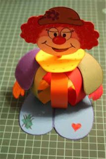 Clown purim centerpiece heidi pinterest clowns basteln and centerpieces - Clown basteln kindergarten ...