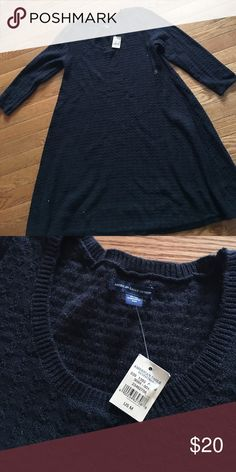 American Eagle Black A Line Sweater Dress Selling brand new with tags American Eagle A Line sweater Dress size medium. Black. Super soft. Great with high boots or even booties. Perfect get up and go dress. American Eagle Outfitters Dresses Asymmetrical