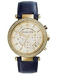 c1bec21a194e Michael Kors Women s Parker Blue Watch Watch Attachment type  Two piece  watch strap. Case Diameter  Water Resistant To 330 Feet.