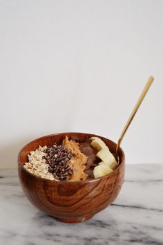 Peanut Butter Protein Acai Bowl | Natalie Merrillyn