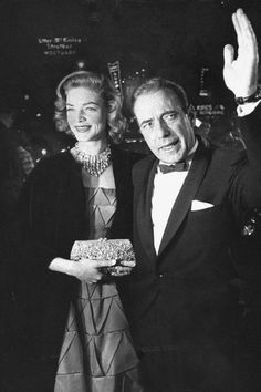 20 vintage photos from Old Hollywood's Oscars, Golden Globes and more awards shows: Lauren Bacall and Humphrey Bogart