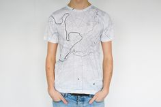 Manchester map T-shirt by www.citeefashion.com