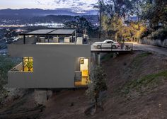 Hillside home with carport in Echo Park, Los Angeles, California, by Anonymous Projects