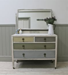 Distressed Vintage Oak Dressing Chest - For Sale App Development, Furniture Projects, Painted Furniture, Digital Marketing, Dresser, Projects To Try, Vanity, Chalk Painting, Annie Sloan