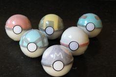 Fizzing Pokeball Bath Bomb with a Pokemon by FizzyFairyApothecary