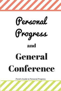 The most wonderful time of the year is commonly referred to as Christmas time but I like to differ. To me this time is General Conference. In fact, it is so wonderful, it happens twice a year!! We...