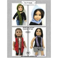 Free Hooded Scarf Tutorial - Crochet--downloaded
