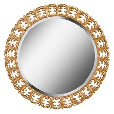 Kenroy Home Bontemps 34 in. x 34 in. Gold Framed Wall Mirror-60224 - The Home Depot