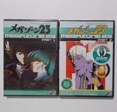 Megazone 23 Anime DVD Part 1 & 2 New Sealed ADV Films Region 1 #ADVFilms
